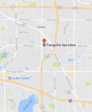Tranquility Spa Salon in Brooklyn Park, MN on a map (links to directions)