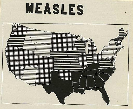 Measles epidemiology in the US during World War I.