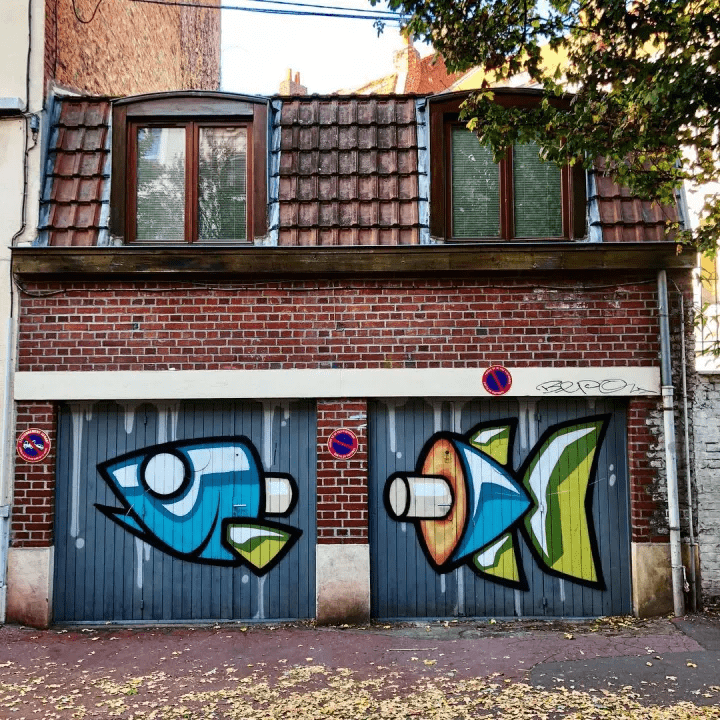 graffiti poisson street art lille