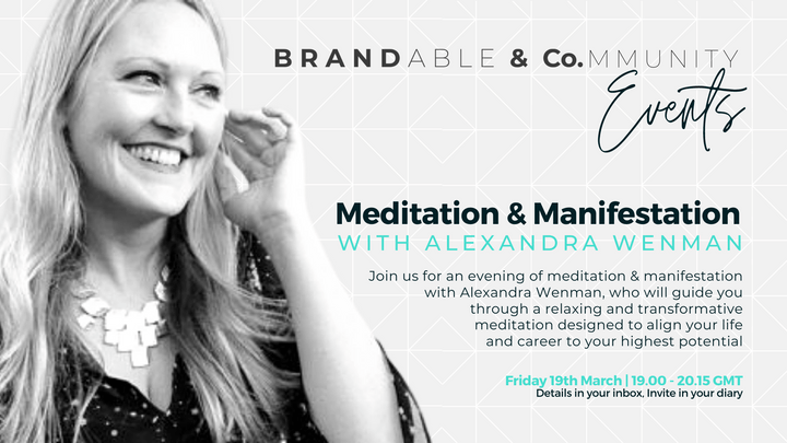 Brandable & Co, client events, Brandable & Community, Alexandra Wenman