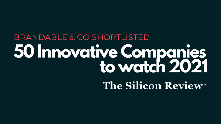 Brandable & Co, personal branding, personal brand, human brands, innovative companies to watch, shortlisted,
