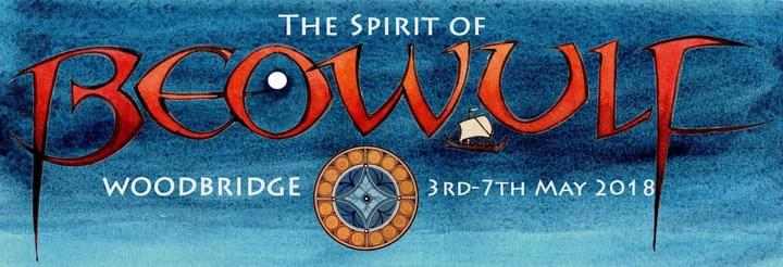 The Spirit of Beowulf Festival 2018 banner design by Claudia Myatt