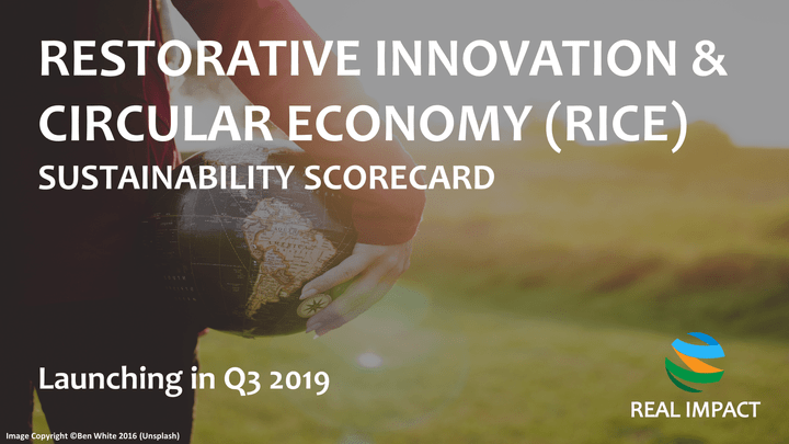 REAL IMPACT's Restorative Innovation & Circular Economy (RICE) Sustainability Scorecard