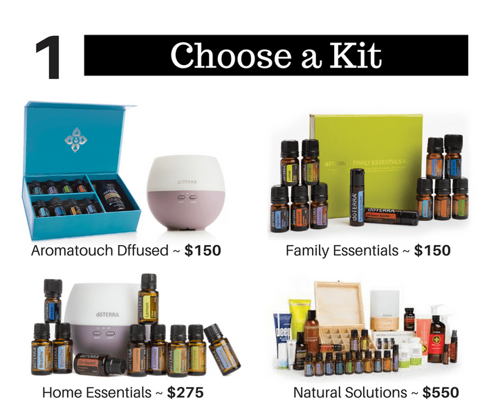 Four examples of doTERRA essential oils kits