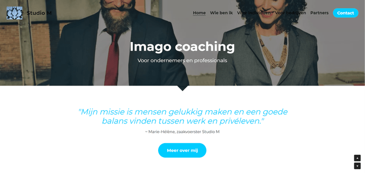 Studio M, tongeren, Website, screenshot