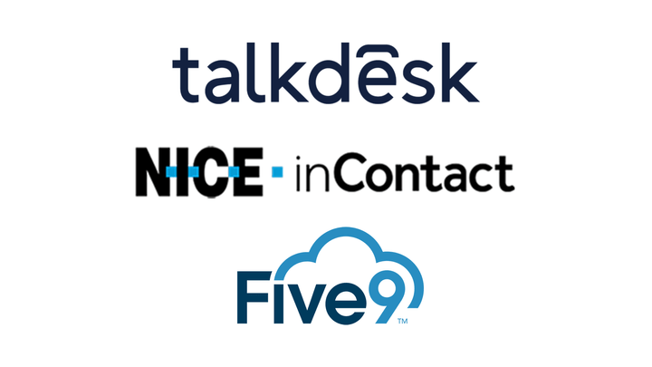 talkdesk, Nice in Contact, and Five9