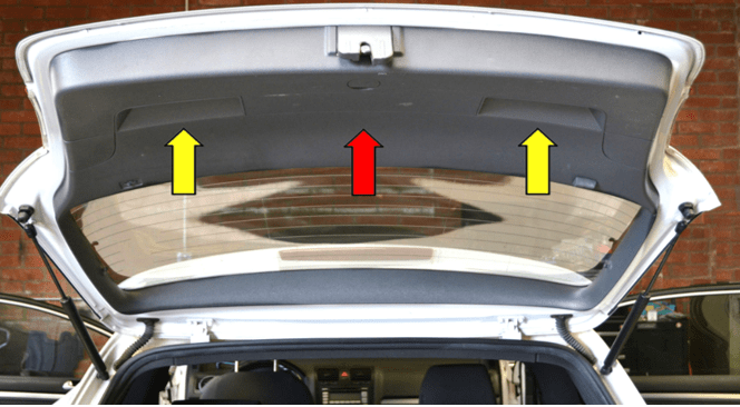 Automotive back door trim