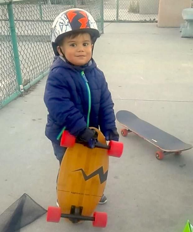 This champion is already shredding with his eggboard!