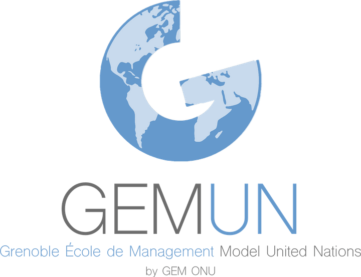 GEMUN Grenoble École de Management Model United Nations Logo
