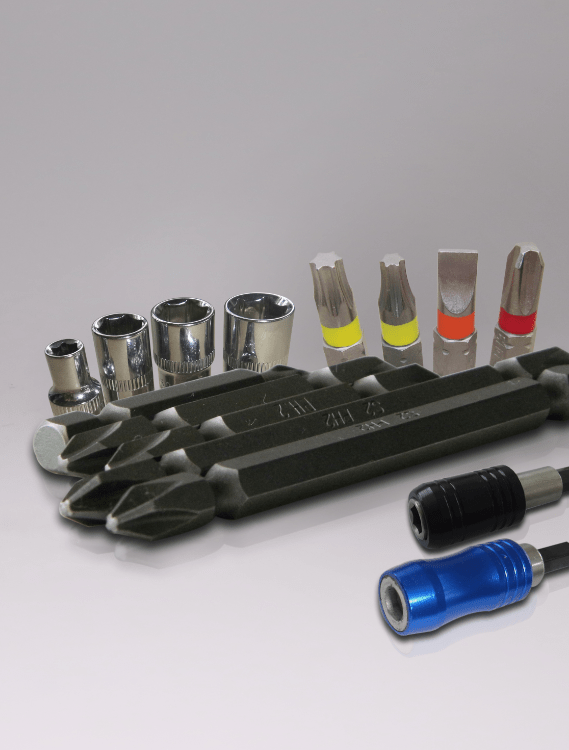 SCREW DRIVER BITS, IMPACT BITS, NUT SETTERS, SOCKETS, BIT HOLDER, QUICK CHANGE BIT HOLDER