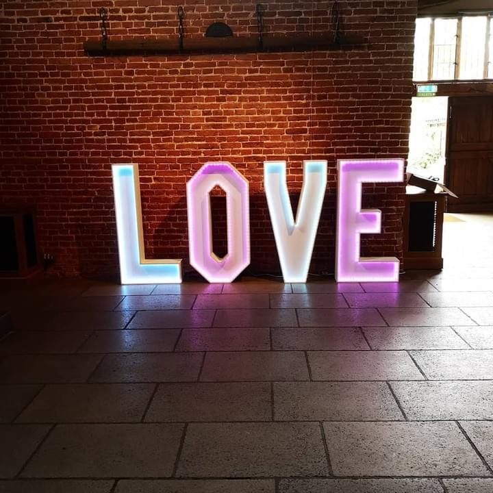 Suffolk Wedding Events LED Love Letters