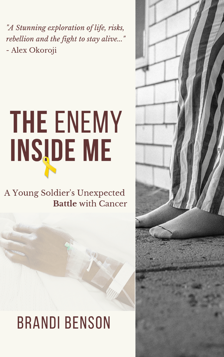 The Enemy Inside of Me, book by author, Brandi L Benson and published by The BRAG Media Company