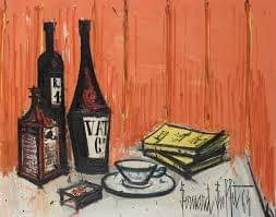 Bernard buffet lithographie Maison Good