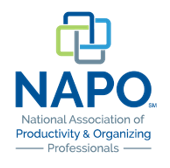 Michelle Santaferraro is a gold member of the National Association of Productivity and Organizing Professionals