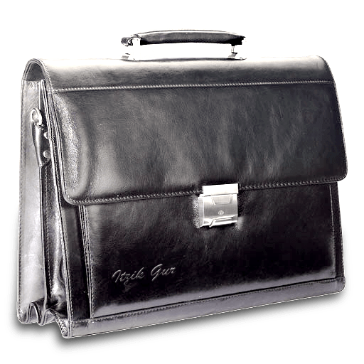 professional black brief case signifying someone that becomes highly organized
