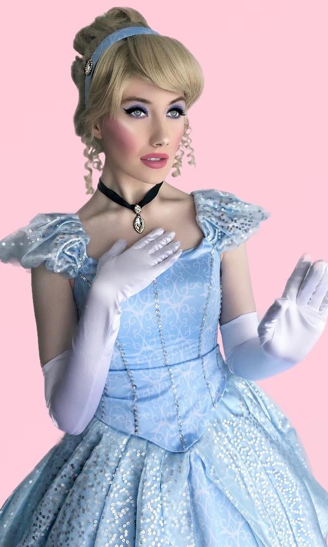 Disney Princess Cinderella Character Performer Kids Birthday Party in Edmonton