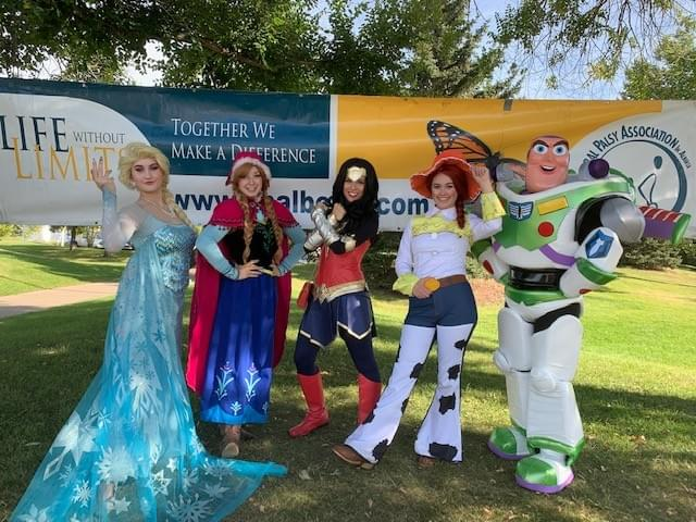 Princess Super Hero Character Performer Kids Birthday Party Outdoor Party Idea in Edmonton