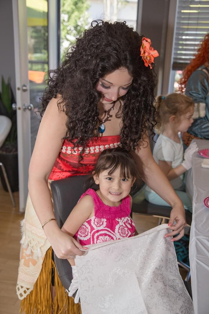 Princess Super Hero Character Performer Moana Kids Birthday Party Tea Party in Edmonton