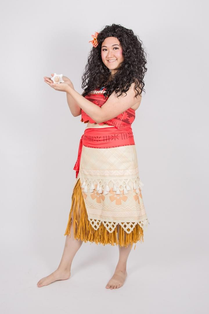 Disney Princess Moana Character Performer Kids Birthday Party in Edmonton