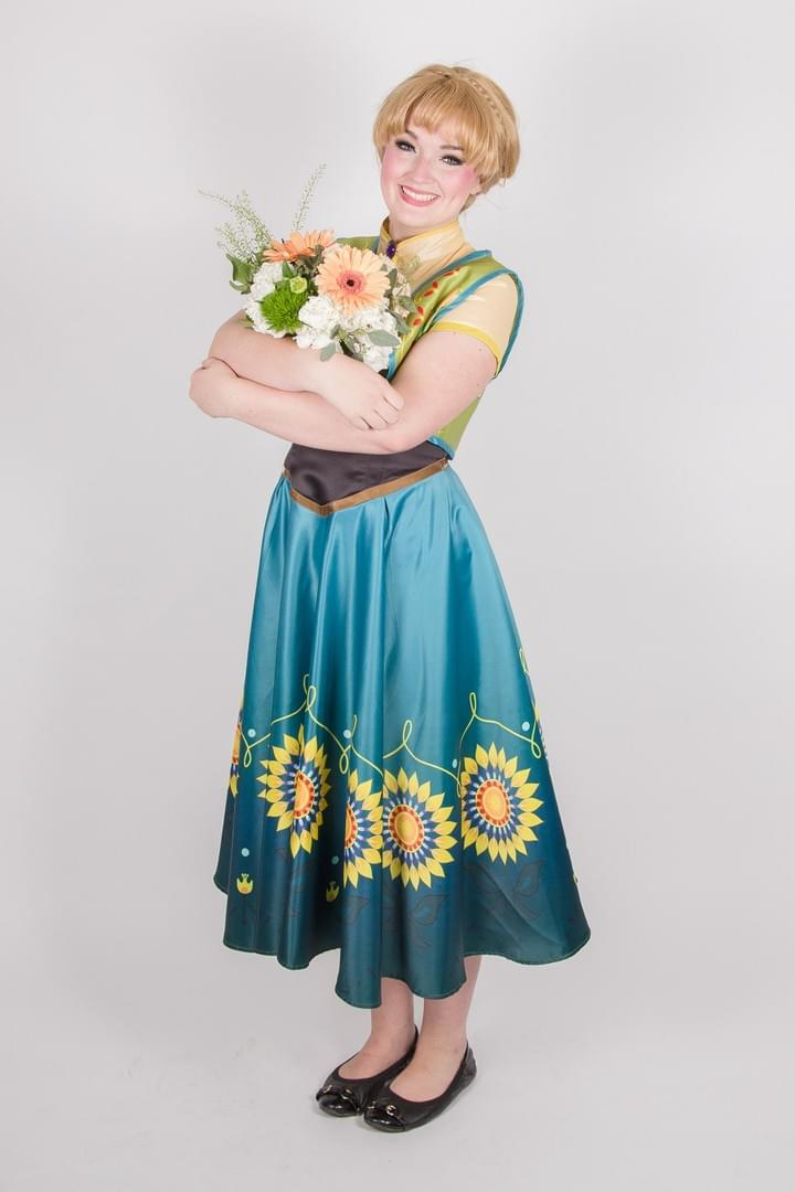 Disney Princess Anna Frozen Fever Character Performer Kids Birthday Party in Edmonton