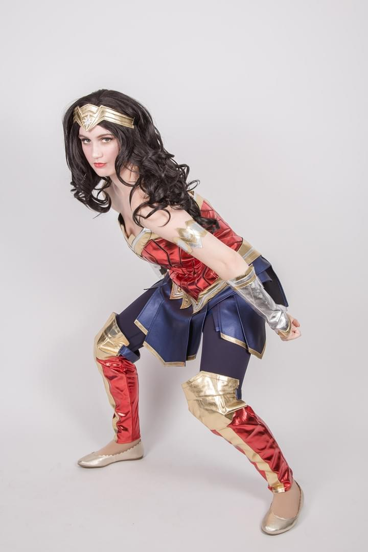 Marvel Comic Character Wonder Woman Justice League Super Hero Performer Kids Birthday Party in Edmonton