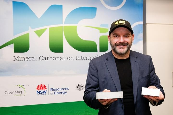First experimental cement bricks produced with CO2 in MCi's process