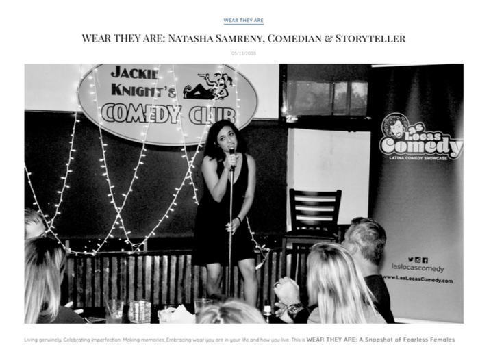 Boston style blogger Natalie chats with comedian Natasha Samreny for Wear You Are Now.