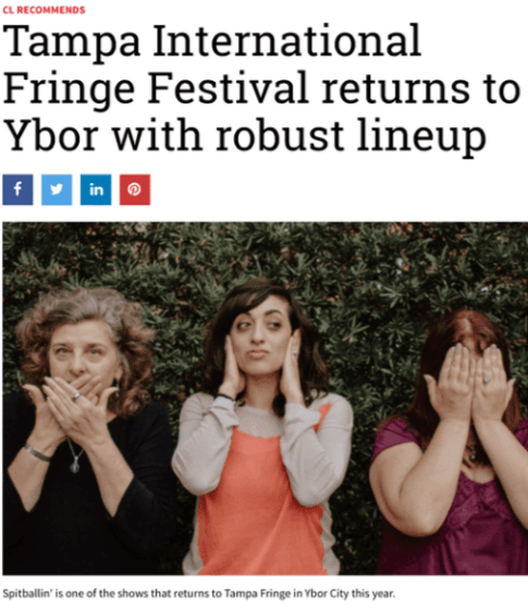 Creative Loafing features all-women improv troupe 3 Fingers Crossed for the return of the Tampa International Fringe Festival.