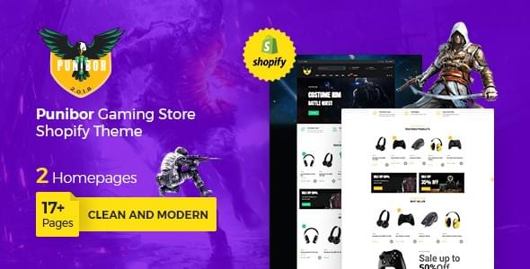 Punibor - Gaming Shopify Theme