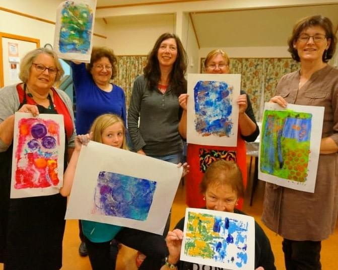 Our interest group members enjoy creating art and crafts in a social atmosphere.