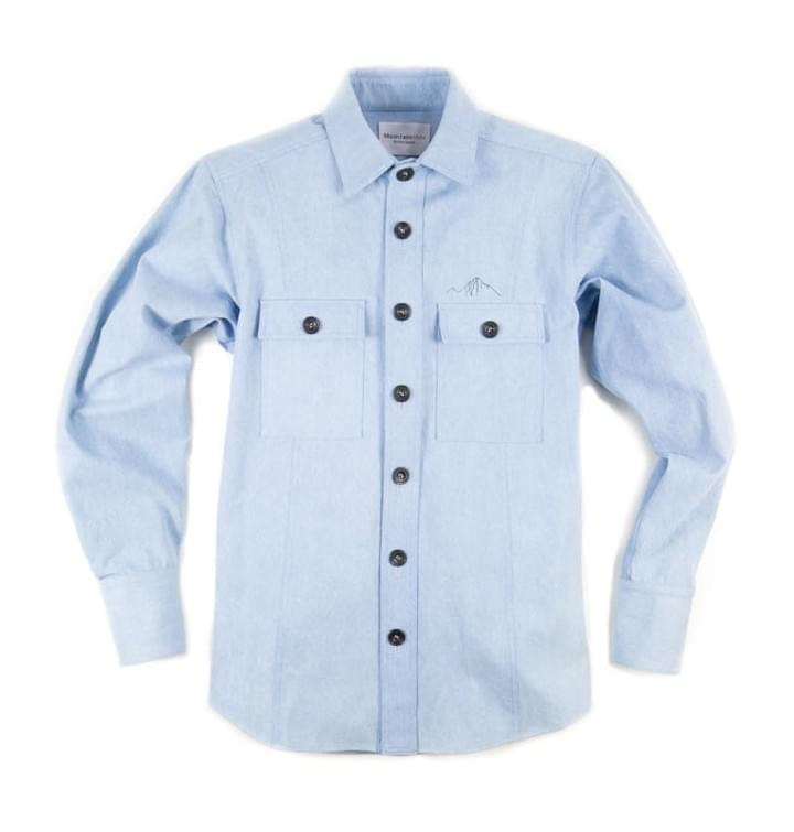 mountain white classic denim shirt