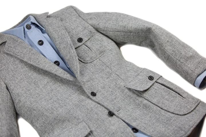 mountain white harris tweed two button jacket