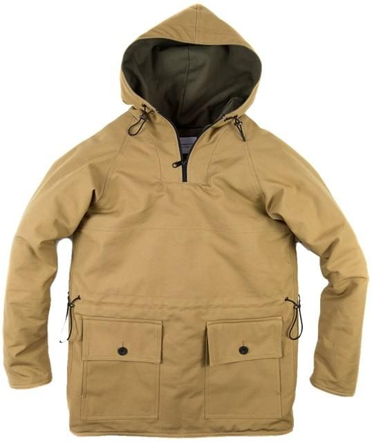 mountain white heavy canvas ventile smock