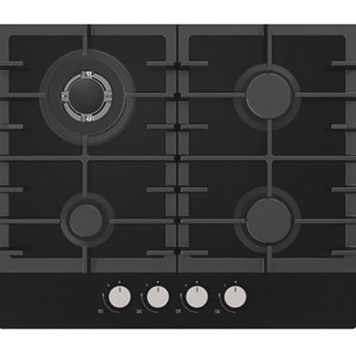 Statesman GH60GB 4 Zone Gas Hob - Glass Black