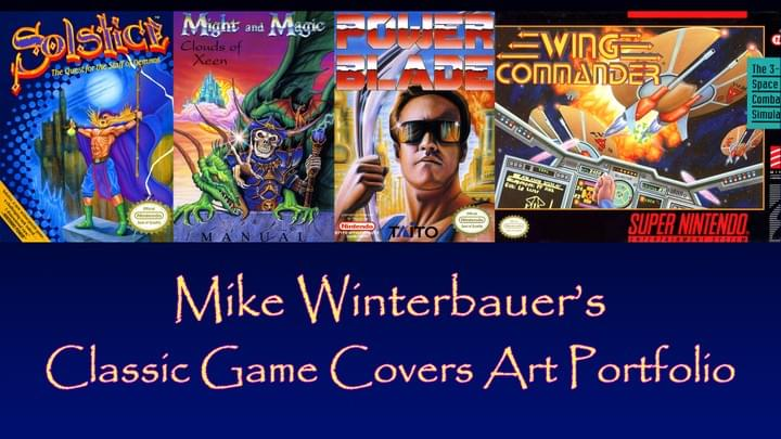 Classic Game Covers Art Portfolio