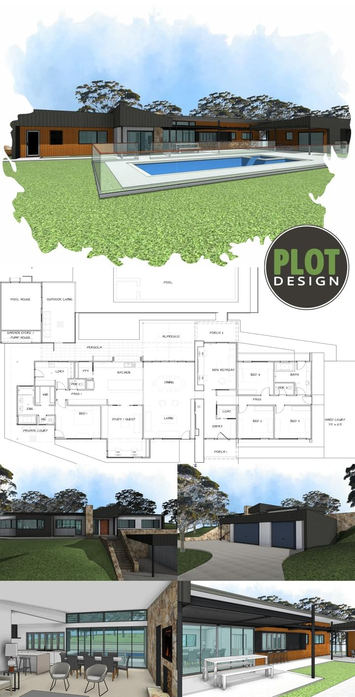 Plot Design : Building Design & Drafting Services : Parkerville Residence