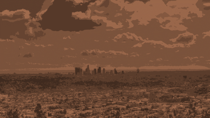 Picture of the skyline of Los Angeles.