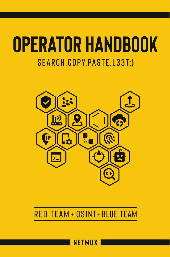 operator handbook red team osint blue team