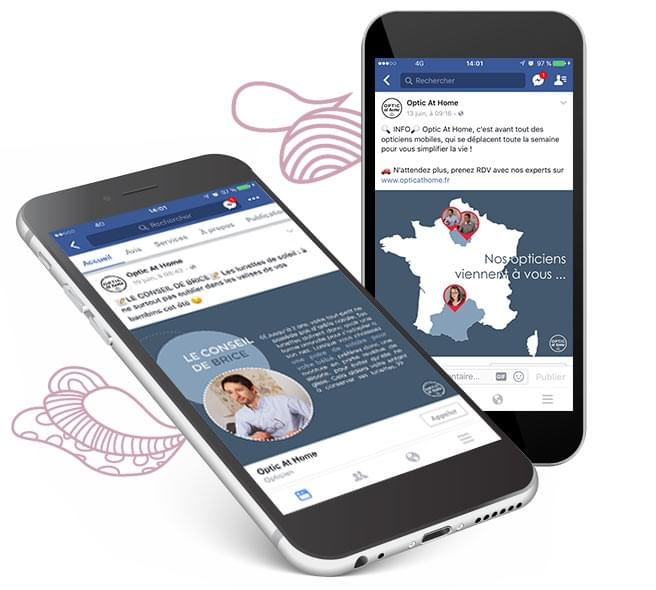 animation facebook opticien bm business development