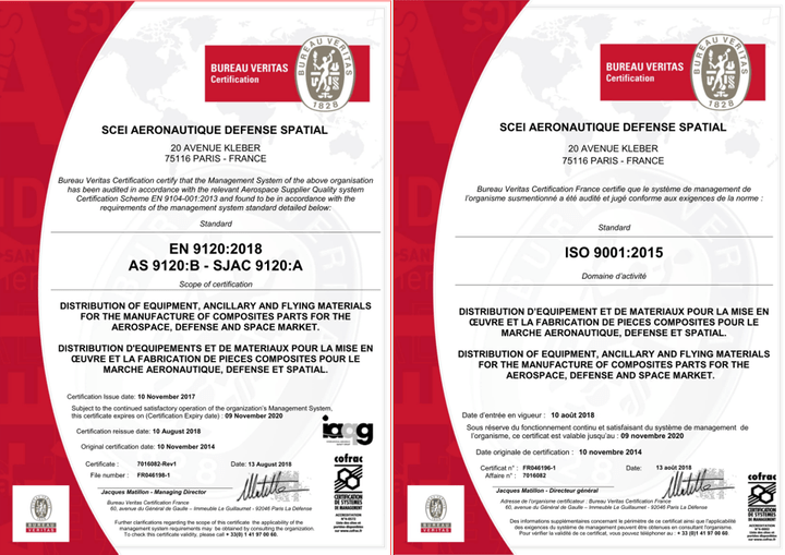 SCEI is a certified ISO 9001 and EN 9120 distributor