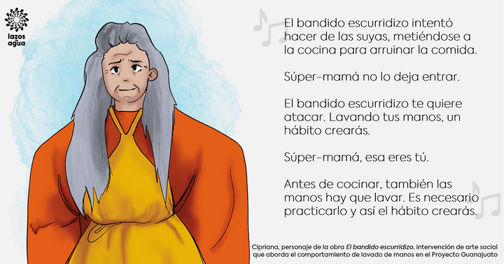 "Mensaje inspirado en la obra de teatro ""El bandido escurridizo"", parte de las intervenciones SABC del Proyecto Guanajuato. Este proyecto es ejecutado por Living Water International, en estrecha colaboración con CEAG. Ilustración: Living Water International"