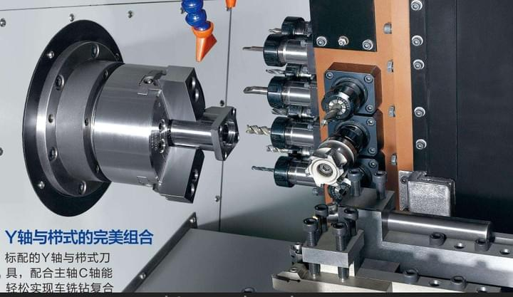 Turning and milling integrated function