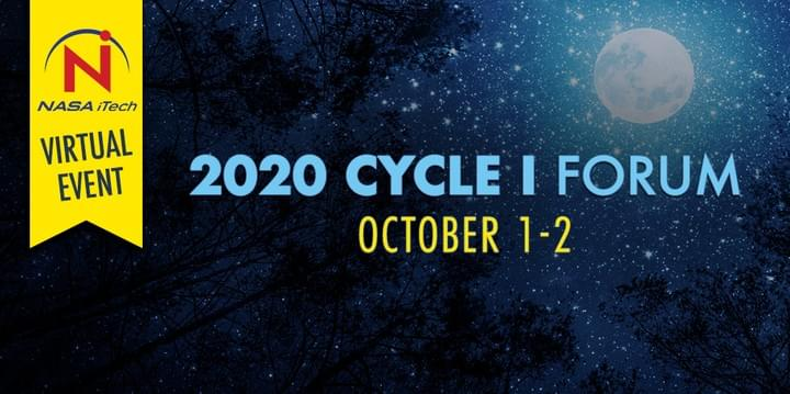 Moon in night sky, NASA iTech's 2020 Cycle I Forum, a virtual event