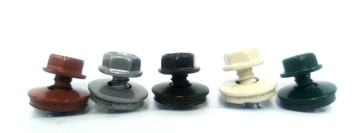 The roofing screws are allow to add color on the screws head and EPDM bounded washer by powder. The color can depends on the RAL or Patone color system to control the international standard.