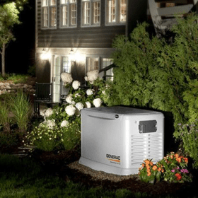 Generac Generator at night