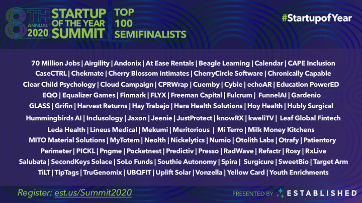 Startup of the Year Summit 2020 - Virtual Global Event