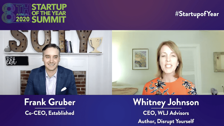 Startup of the Year Podcast #0045 Whitney Johnson, Disrupt Yourself