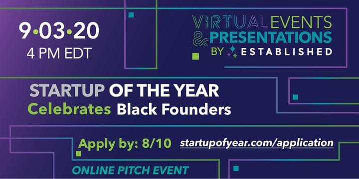 Register for the Startup of the Year Black Founders Pitch Event