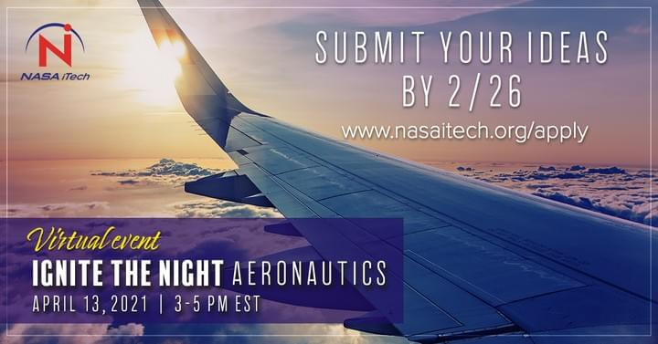 NASA iTech Ignite the Night Aeronautics Application is open