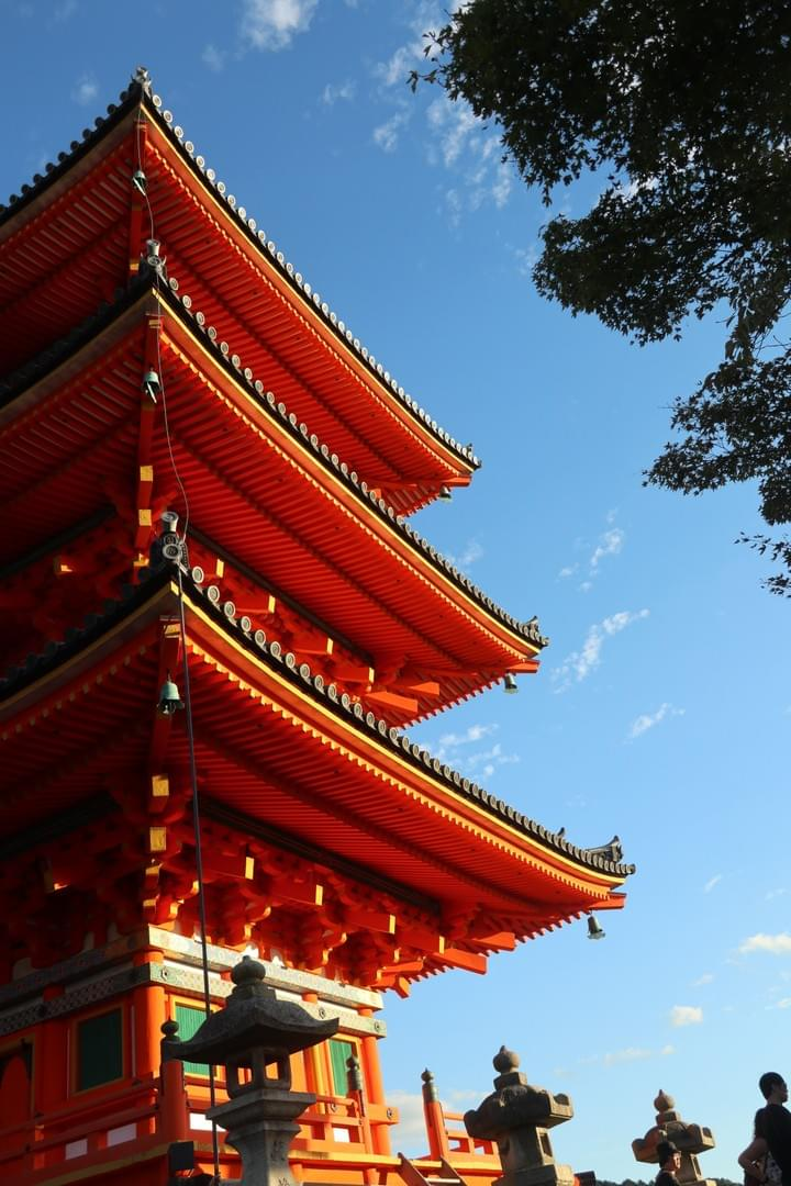 Pagoda at Kiyomizu-dera in Kyoto, Japan